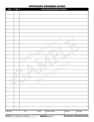 Briggs Healthcare Physicians Progress Notes Form - 100 Per Pad ()