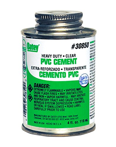 Clear Pvc Cement (Oatey 30850 PVC Heavy Duty Cement, Clear, 4-Ounce)