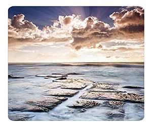 Decorative Mouse Pad Art Print Landscape and Plants Ocean Shore Nature