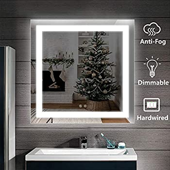 Amazon Com Decoraport 36 Square Led Bathroom Mirror