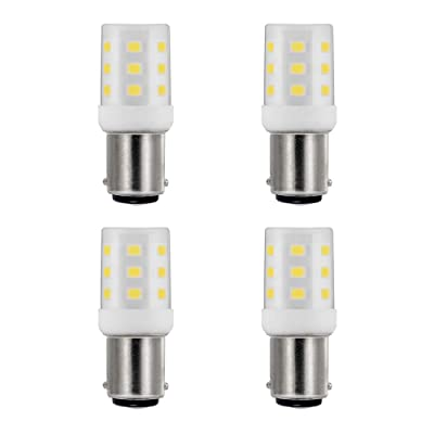 Makergroup 1076 1142 1004 90 LED Light Bulbs BA15D Double Contact Bayonet Base for Marine Navigation Anchor Stern Lights RV Camper Trailer Motorhome 10-40VDC 2W Warm White 4-Pack: Automotive