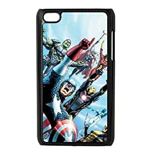iPod Touch 4 Case Black Marvel comic Ddmu
