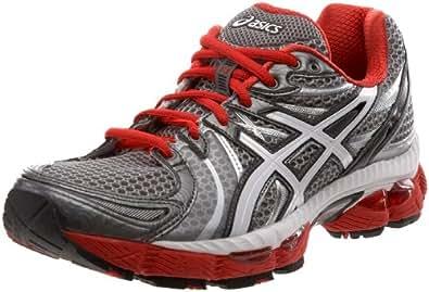 ASICS Men's GEL-Nimbus 13 Running Shoe,Silver/White/Flame,6 M US