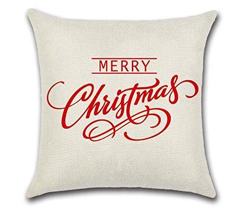 Gwant Merry Christmas - Funda de cojín, diseño de Letras de ...