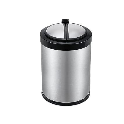 Jiaqi Cubo de basura/cubo de cocina con sensor de movimiento, manos libres,