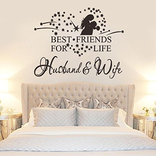 Flank New Husband And Wife Vinyl Decal Bedroom Wall Art Decor Sticker Home Decor (Wall Decor Art New)