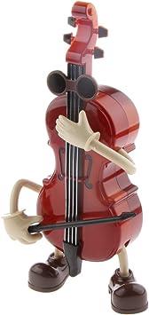 Juguete Musical Ornamento Caja de Música Violonchelo Chico Columpio de Cuerda Mesa Regalo Cabritos: Amazon.es: Juguetes y juegos