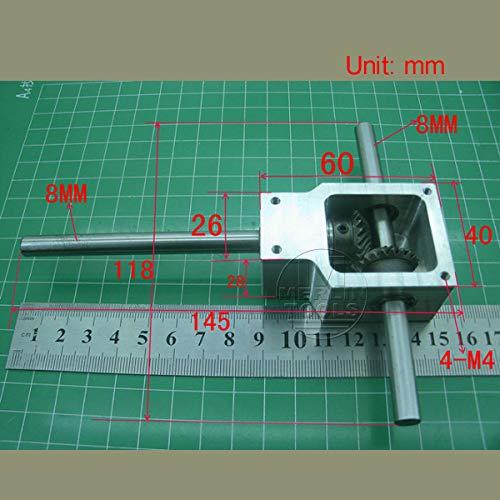 FidgetFidget Worm Right Angle Gearbox Speed Reducer Transmission Ratio 1:1 Shaft 8mm 90°