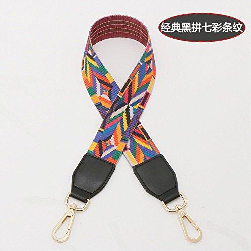 (Black Woven belt Wide 3.8cm / Length 73cm Mini Purse/Shoulder/Cross Body Bag Replacement DIY Strap replacement purse strap)
