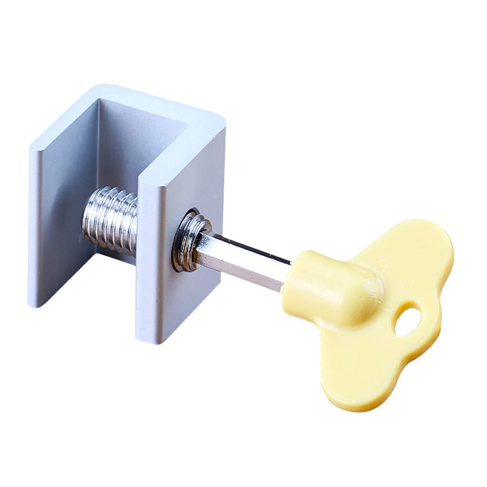 YOUNICER Cerraduras de ventana correderas ajustables de 4//6//12 piezas cerraduras de seguridad de marco de puerta de ventana de aleaci/ón de aluminio cerradura de puerta de patio