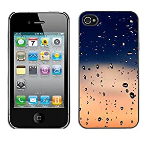 MOBMART Carcasa Funda Case Cover Armor Shell PARA Apple iPhone 4 / 4S - Dusk Raindrops