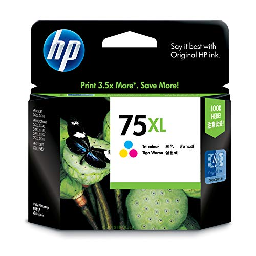 HP 75XL Tri-color Ink Cartridge (CB338WN) for HP Deskjet D4260 HP Officejet J5788 J6480 HP Photosmart C4342 C4344 C4382 C4384 C4435 C4440 C4524 C4540 C4550 C5540 C5550 ()
