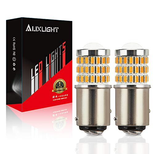 Bulb Replacement Amber - AUXLIGHT 2057 1157 2357 7528 2057A 1157A 2357A LED Bulbs Amber Yellow, Ultra Bright 57-SMD LED Replacement for Blinker Lights, Turn Signal/Parking or Running Lights, Brake/Tail Lights (Pack of 2)