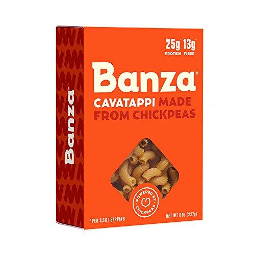 Banza Chickpea Pasta - High Protein Gluten Free Healthy Pasta - Cavatappi (Pack of 6) (Parmesan Chick)