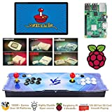 TAPDRA Raspberry Pi 3 Model B+ (B Plus) Arcade Cabinet Machine Video Game Console Complete Full Kit RetroPie Emulation Station ES with 18000+ Games(128GB EVO+) 2 GPIO Joystick