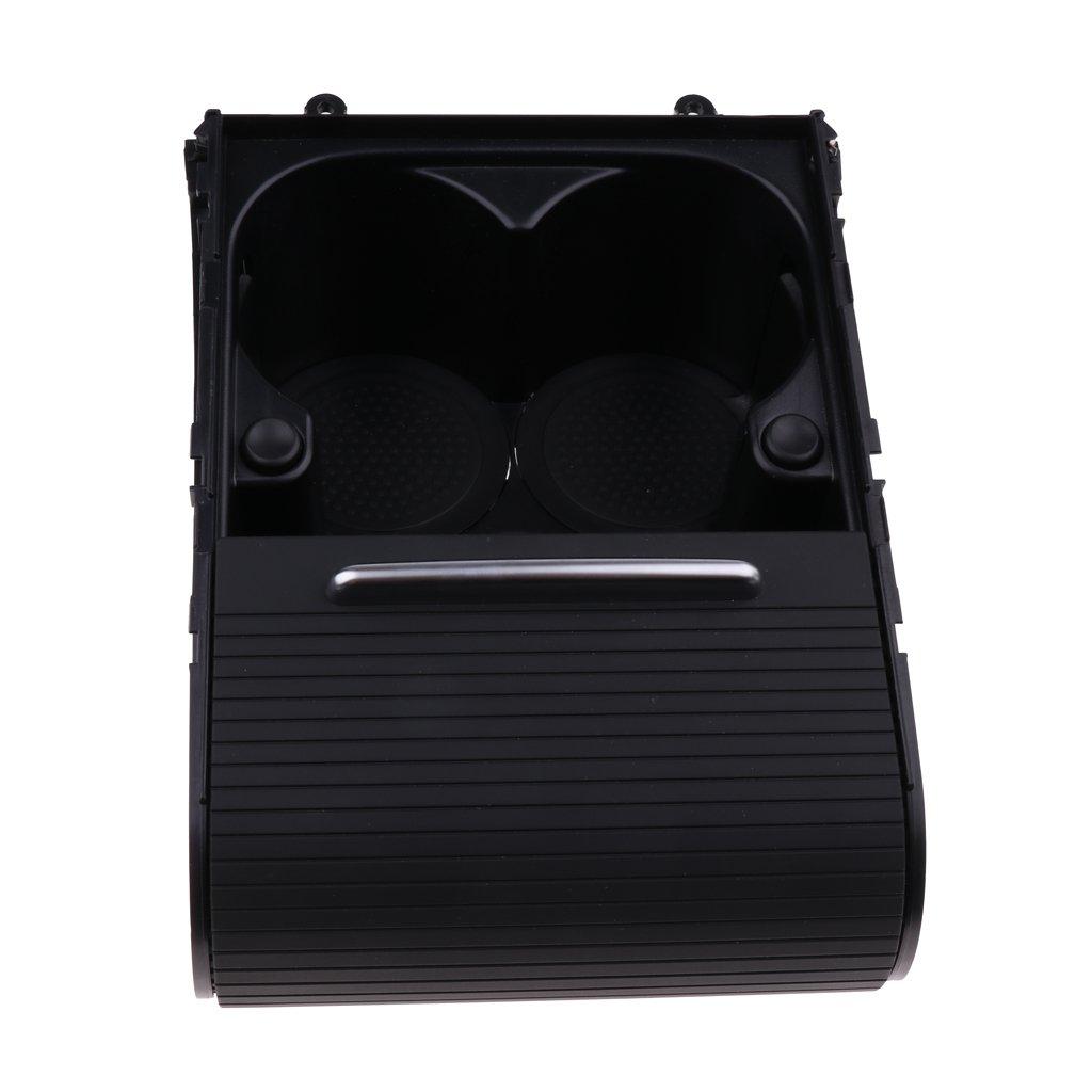KESOTO Consola Central para Soporte de Botella Negra Accesorio Pr/áctico para Coche Passat B6 B7 CC