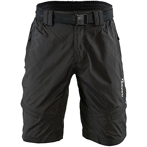 SILVINI Mountain Bike Shorts Rango with 6 Pockets for Men's MTB Cycling and All Other Outdoor Activities (Black L) ()