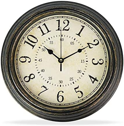 Moksha12 Inch Modern Wall Clock Silent Non Ticking Easy to Read Decorative Wall Clocks
