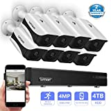 Safevant 8CH 1440P Video Security Camera System,CCTV DVR Kits with 8PCS 4.0MP (2560TVL) Indoor/Outdoor Night Vision Weatherproof Surveillance Cameras,Pre-installed 4TB HDD,Free APP,Plug&Play