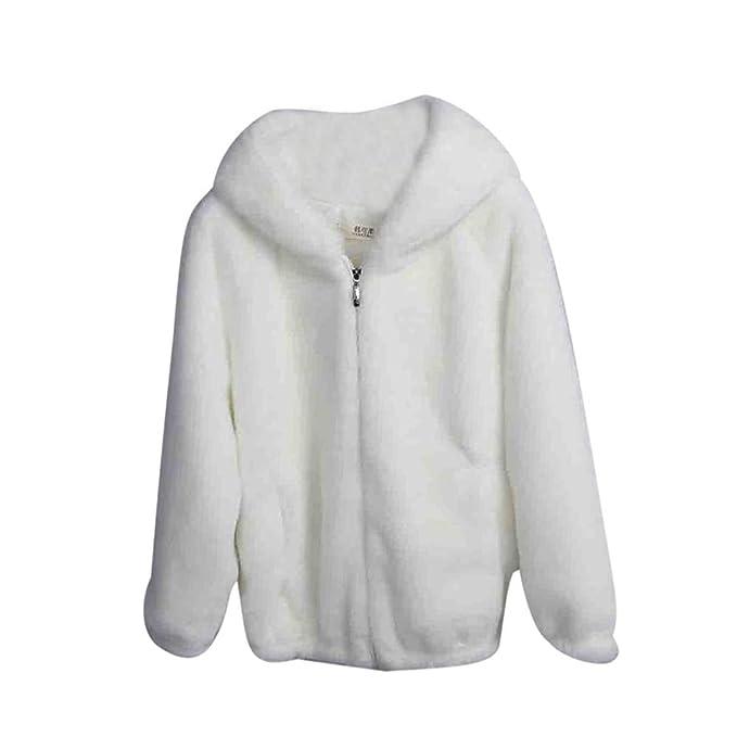 Amazon.com: Anboo Fury Cardigan Coat, Women Winter Warm Thick Coat Solid Caps Hooded Wool Jacket Cardigan Loose Coat Cardigan Coat Hoodied Coat Zipper Up ...