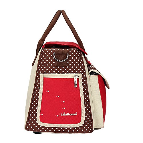 LANDHOUSE Women's Baby Diaper Nappy Bag Tote Redgray by LANDHOUSE rosso