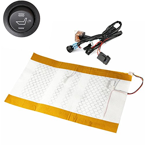 Qlhshop Motorcycle Seat Heating Carbon Scooter ATV Quad Universal Heating Mat Heating Seat pad
