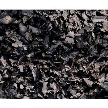 NuScape 100% Recycled Rubber Mulch, Twenty-Five 1.5' x 1.5' Bags - Black by NuScape