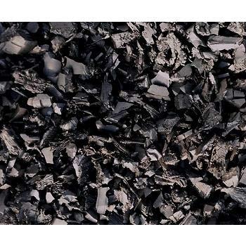 NuScape 100% Recycled Rubber Mulch, Twenty-Five 1.5' x 1.5' Bags - Black (Rubber Mulch Black)
