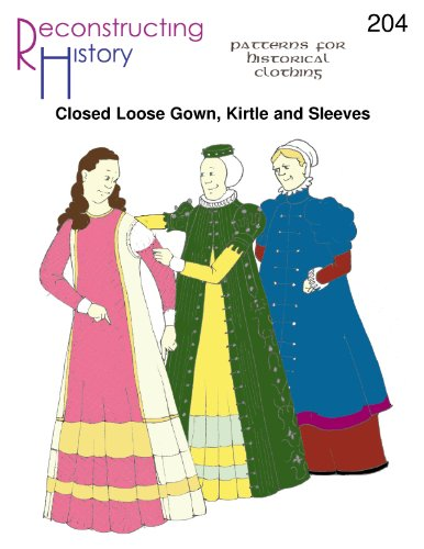 Amazon com: Late Elizabethan Closed Loose Gown, Kirtle and