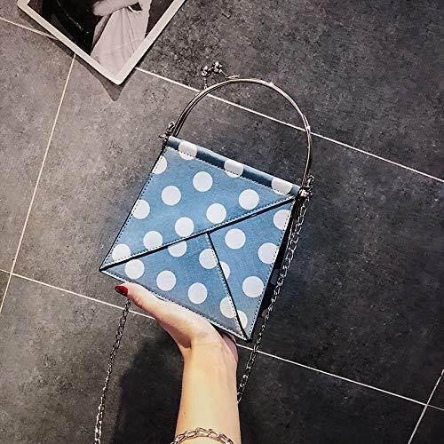 Femme personnalité Bag WSLMHH Portable chaîne coréenne de la Sac épaule Mode Paquet Messenger marée Version Bleu Sauvage Petit ZErqvEw