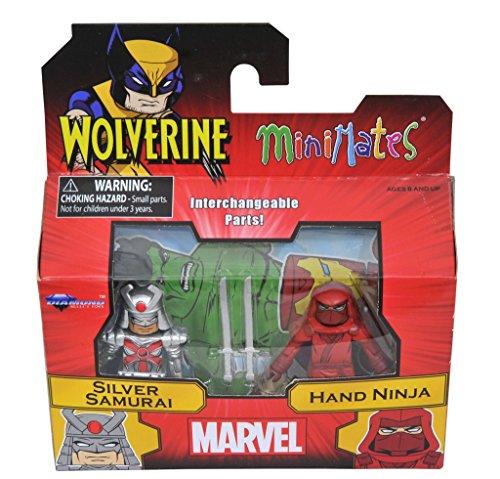 Marvel Minimates Series 72 Silver Samurai & Hand Ninja (Silver Samurai Marvel)