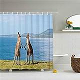 Where to Buy Shower Curtains Niomhdos Where to Buy Unique Cute Koala Bear and Kangaroo Polar Bear Shower Curtains 72x72