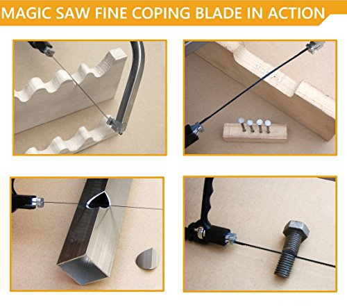 Magic Saw Fine Coping Blade Original Korean (5 Units) designed for hard metals like steel by Amazing Tools (Image #2)