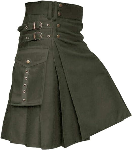 New Scottish Multi Pockets Working Utility Kilt For Men By House Of Scottish