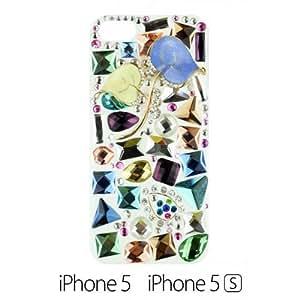 OnlineBestDigital - Handmade Diamond Rhinestone Hard Back Case for Apple iPhone 5S / Apple iPhone 5 - Leaf