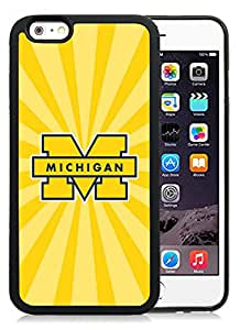 Fashion Custom Designed Cover Case For iPhone 6 4.7 Inch TPU Phone Case With Ncaa Big Ten Conference Football Michigan Wolverines 23 Protective Cell Phone TPU Cover Case for Iphone 6 Generation 4.7 Inch Black