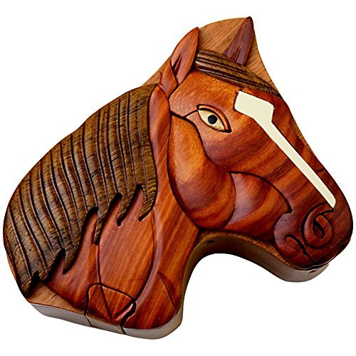 - Horse - Secret Handcrafted Wooden Puzzle Box