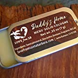Daddy's Home Men's Solid Cologne | Convenient Tin for Travel | Fits in gym bag, travel bag, overnight bag | Gift for Him, Dad, Husband, Boyfriend | Mens Cologne