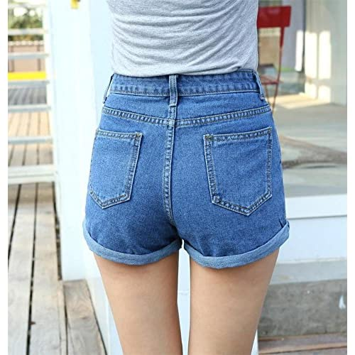 6e9a872dc542 delicate Minetom Mujeres Moda Pantalones Cortos Vintage Denim ...