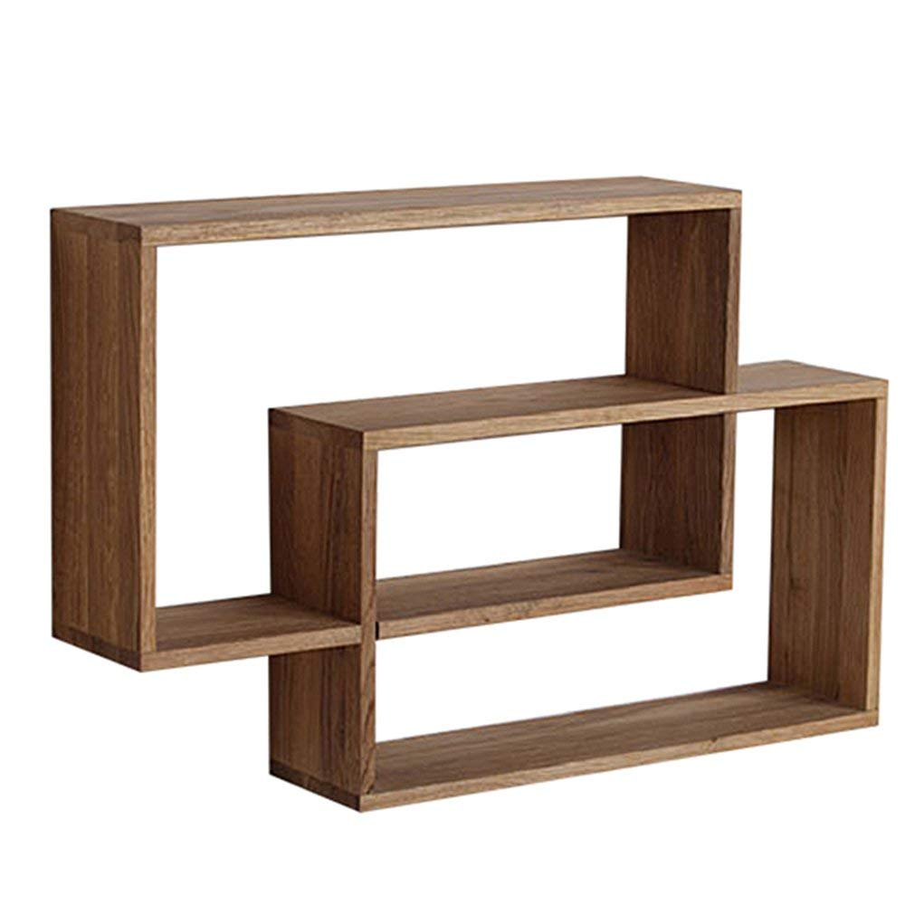 YUEQISONG Shelf Solid Wood on The Wall Storage Simple Partition Family Home Decoration Bedroom