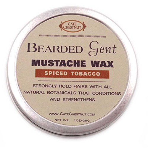 Bearded Gent Mustache Wax | Spiced Tobacco All Natural Hold and Conditioner