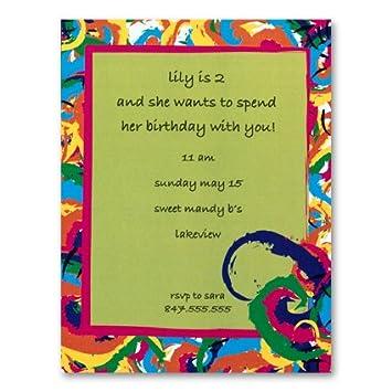 amazon com tie dye invites birthday invitation health personal care