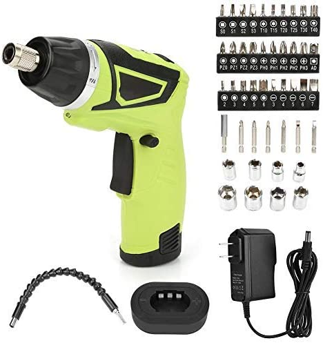 US Plug 110V 7.2V Wireless Electric Drill Screwdriver Kit snd136 Handheld Rotary Drill Tool Rechargeable Lithium Battery Ergonomic Handle with Storage Box