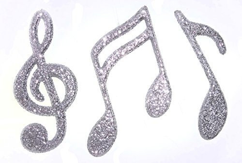 ACI PARTY AND SPIRIT ACCESSORIES Glitter Music Notes, 4