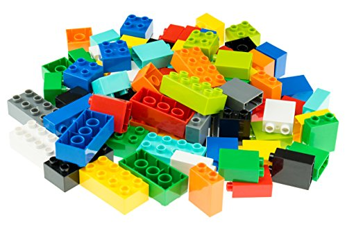 Classic Big Briks | Building Brick Set 100% Compatible with All Major Brands | 2 Large Block Sizes for Ages 3+ | Premium Building Bricks in 10 Rainbow Colors | 108 Pieces