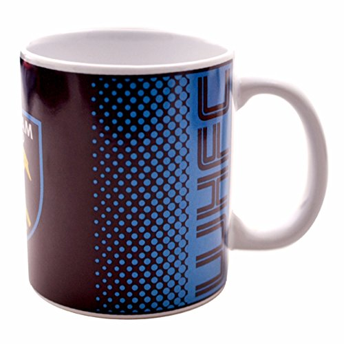 (West Ham United FC Official Fade Crest Design Ceramic Mug (One Size) (Multicolored))