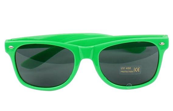 9307ee31b HSWORLD® Unisex Retro 80's Aviator Wayfarer Sunglasses Retro Fashion Dark  Lens Fancy Dress Nerd Glasses Lense Black Yellow Red Pink White Blue  Multi-Colour ...