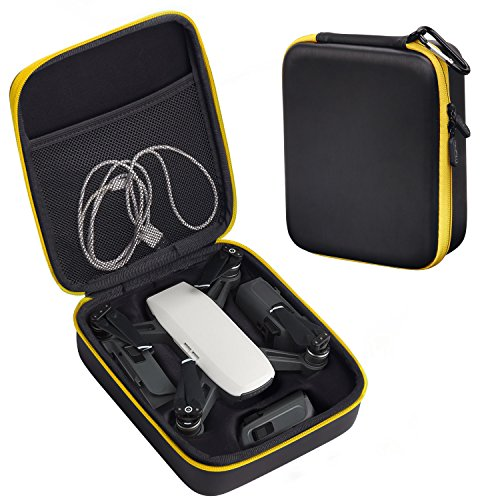 DJI SPARK CASE MoKo Portable Handheld Carrying Case Travel Protective Hard Case Storage Box Drone Bag for DJI SPARK Drone and Accessories Black Yellow