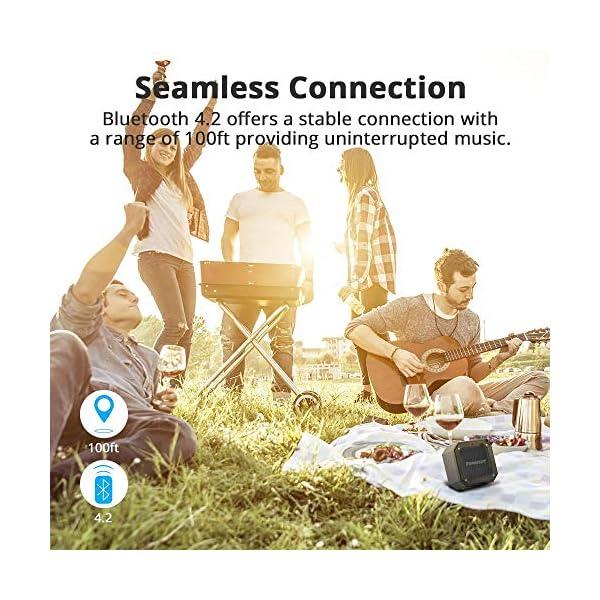 Enceinte Bluetooth Waterproof, Tronsmart Haut Parleur Bluetooth Portable, Autonomie 24H, Technologie TWS et Basses Puissantes, étanchéité IPX7, pour Téléphone et Tablettes, l'extérieur Les Voyages 6