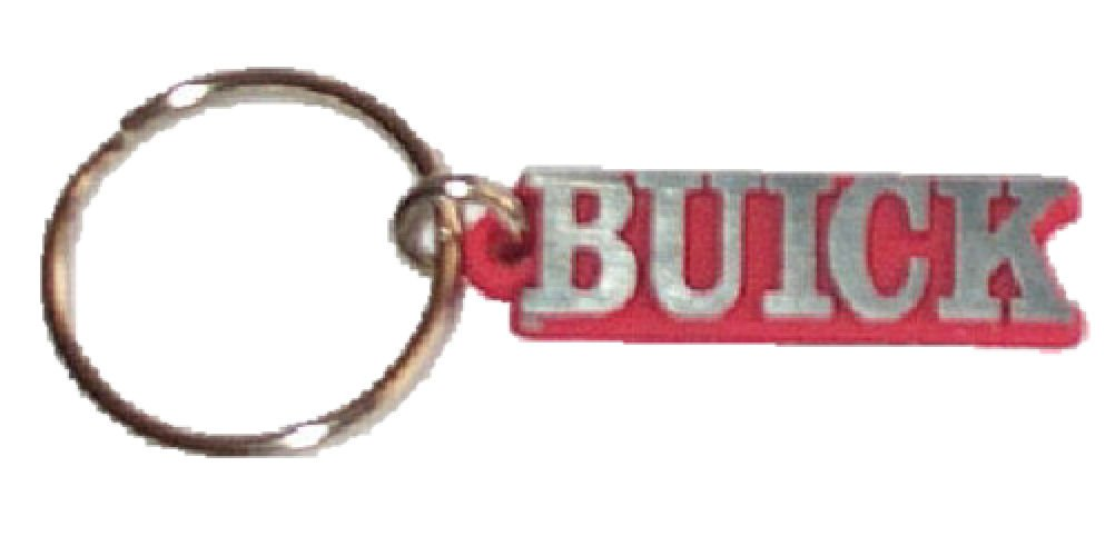 Key Holder with Car Name Buick - Available in Red Black Blue, Red Background